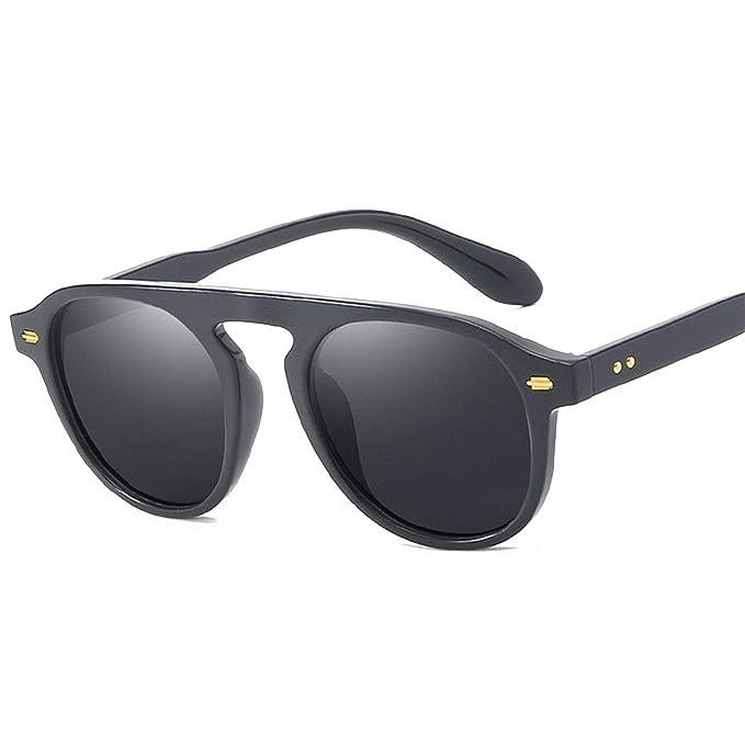 Amazon.com: Gafas de sol redondas con revestimiento retro ...