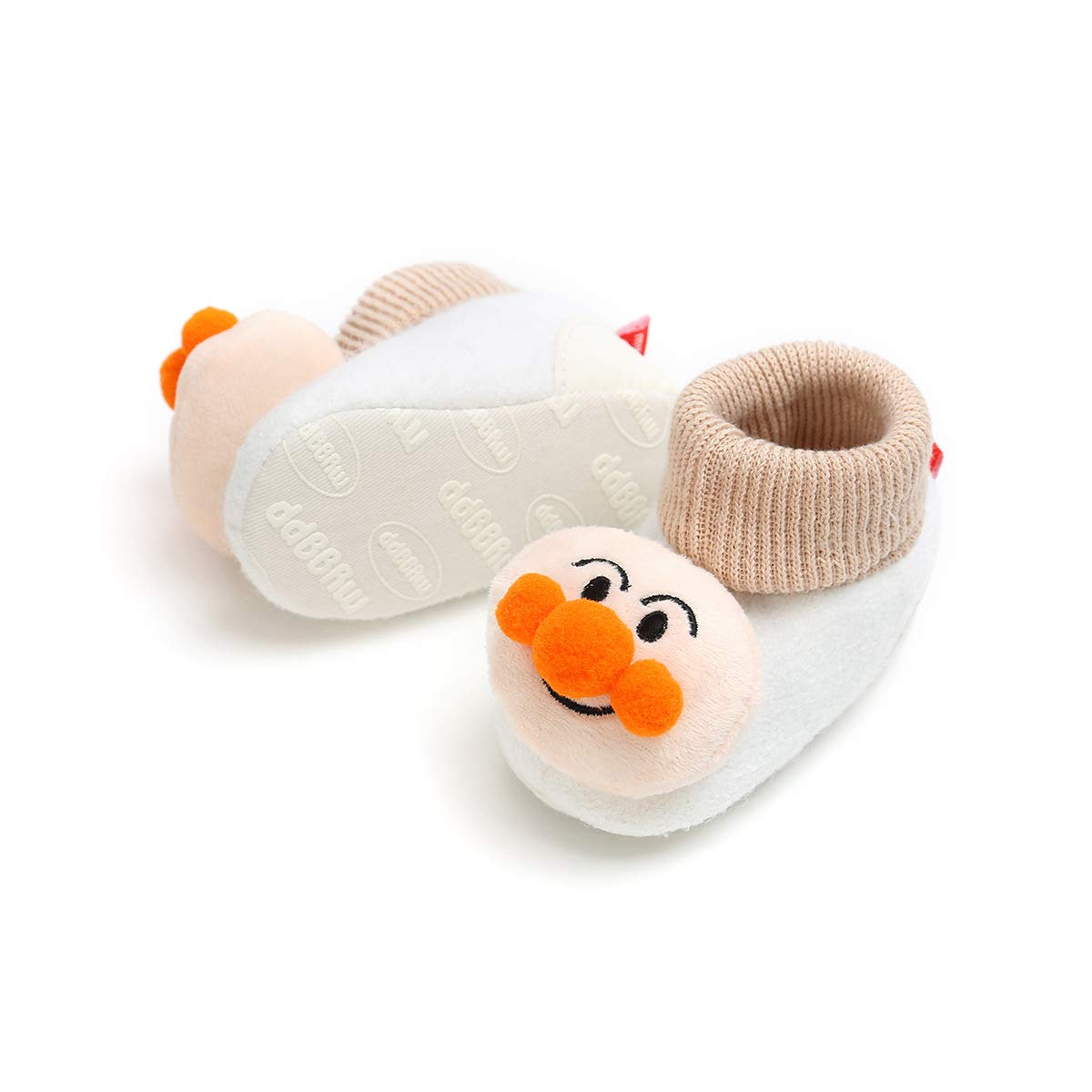 Newborn Baby Girls Boys Cartoon Cozy Fleece Sole Ankle Bootie,Slippers Warm Fur Infant Prewalker Toddler Snow Boots