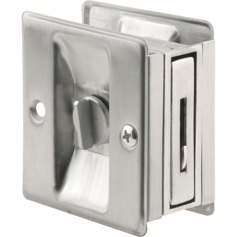 privacy pocket door hardware. Prime-Line Products N 7161 Pocket Door Privacy Lock With Pull, Satin Chrome: Amazon.ca: Tools \u0026 Home Improvement Hardware P