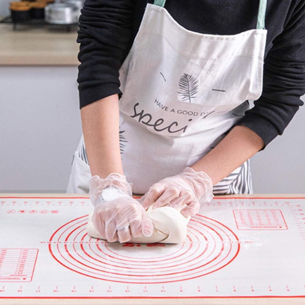 19,7 x 15,8 Zoll gro/ße 6PCS Silikon rutschfeste Geb/äckmatte Antihaft-Rollteigmatte mit 5 PCS Backzubeh/örset Dicke Backmatte f/ür Brot-Pizza-Kuchen BPA-freie Mess-Gegenmatte