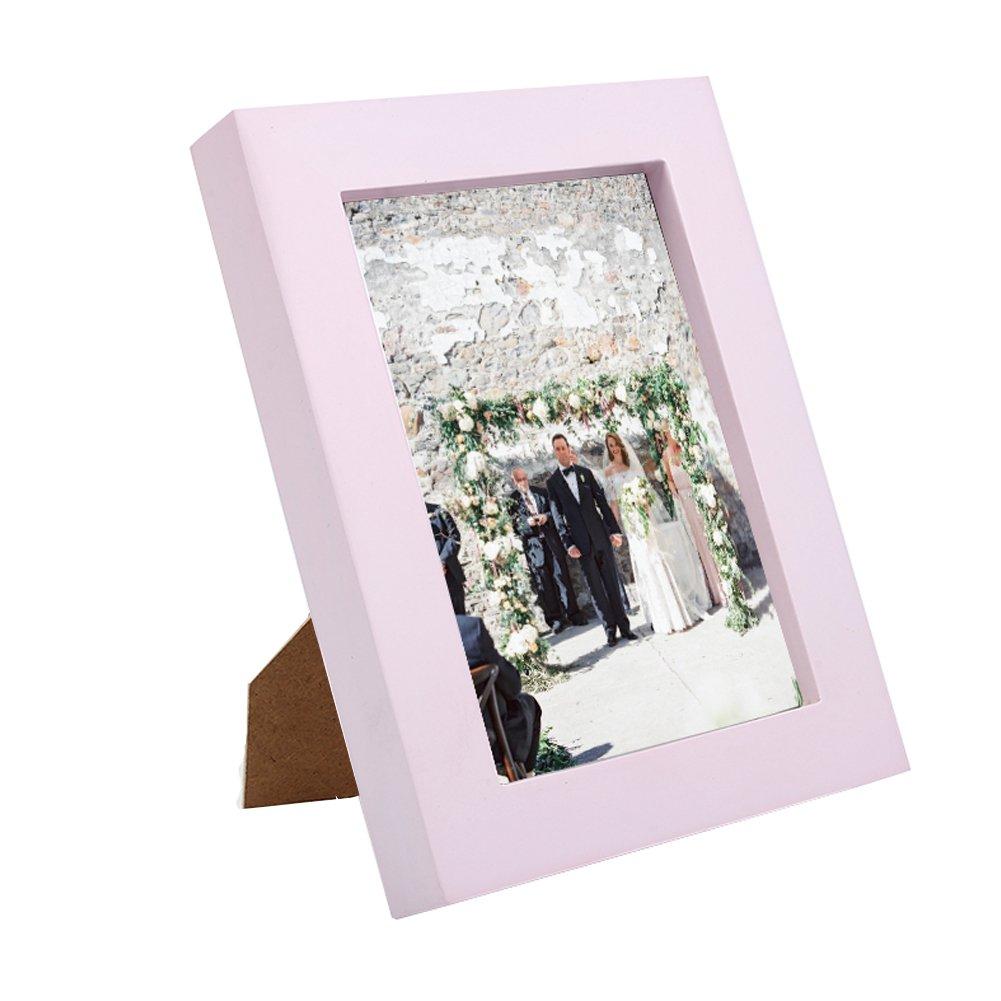 8,9 x 12,7 cm Billig Bilderrahmen Fotorahmen Pink Holz Bild Kreative ...