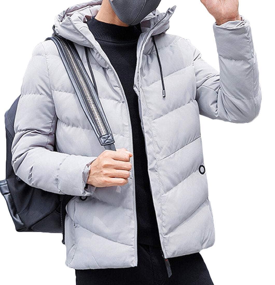 omniscient Mens Slim Casual Warm Jacket Hood Winter Thick Coat Parka Overcoat Outwear
