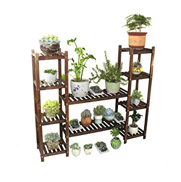 Großartig DHMHJH Blumenständer Multi Layer Holz Regal, Garten, Wohnzimmer,  Schlafzimmer, Balkon