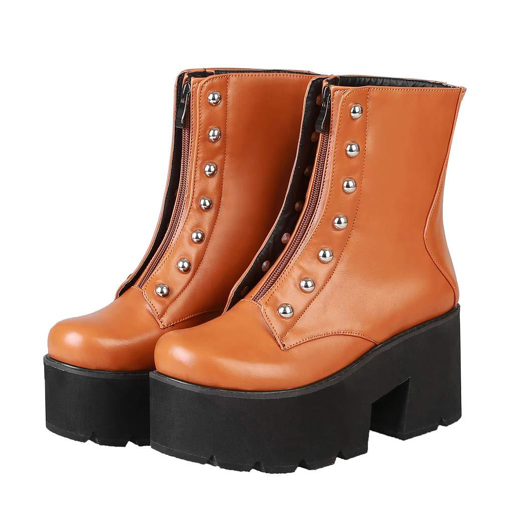 ANNIEschuhe ANNIEschuhe ANNIEschuhe Stiefeletten Damen Kurzschaft Gefüttert Ankle Stiefel Nieten High Heels Plateau Herbst Winter c3c9b3