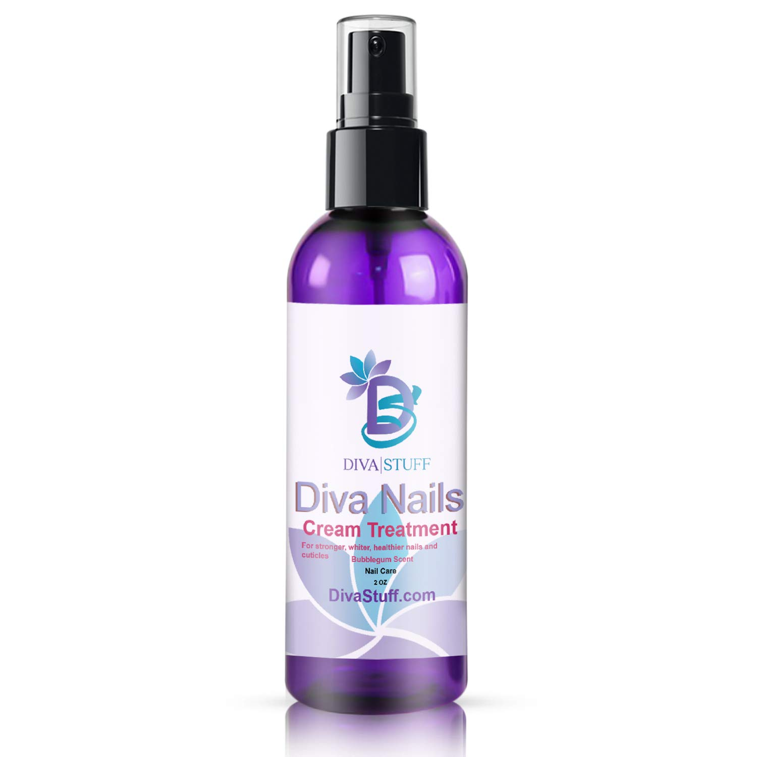 Diva Stuff Diva Nails Cream Treatment, For Stronger & Healthier Cuticles, No More Chips, Cracks & Splits, Made in the USA with Safe Ingredients, Blue Bubblegum Scent, 2 fl oz by Diva Stuff