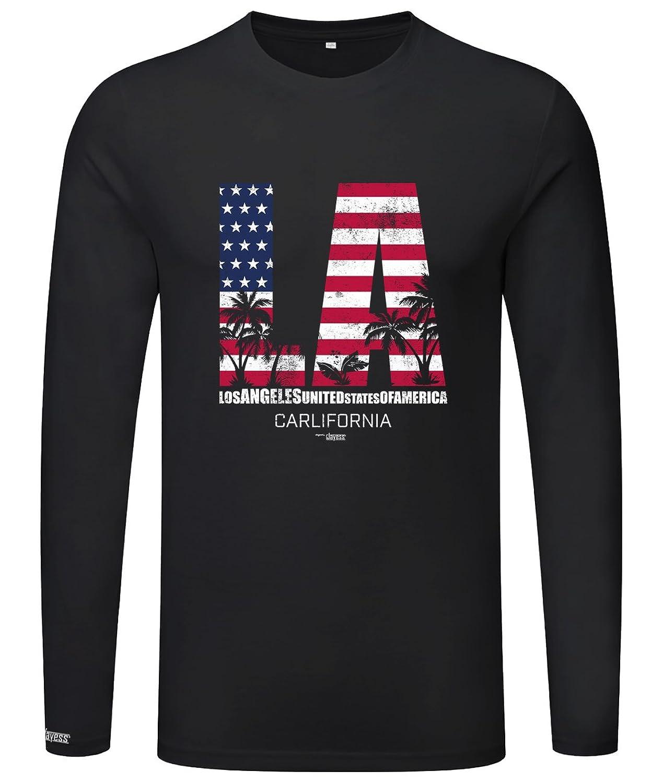 LA - Los Angeles - California - Herren Langarmshirt: Amazon.de: Bekleidung