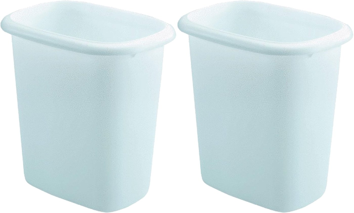 Rubbermaid Vanity Wastebasket,6-quart, 2 pack, White