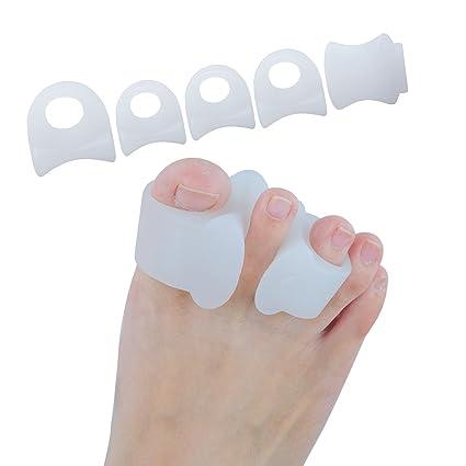 sumifun Gel separador de dedos diseño juanete Splint Corrector Aliviar el Dolor de sastre de hallux ...