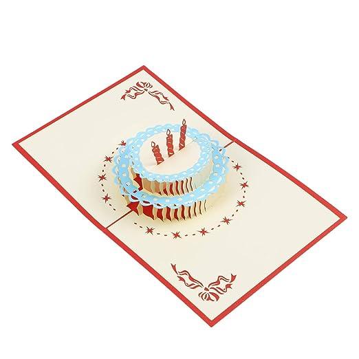 Amosfun - Tarjetas de felicitación de Navidad 3D con diseño ...