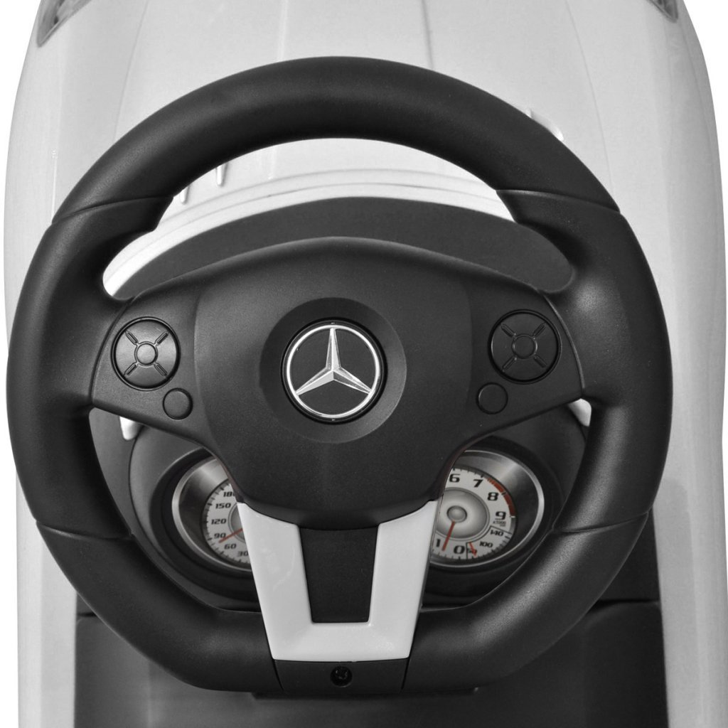 vidaXL Automobile a Spinta Mercedes Benz Bianca Giocattolo Cavalcabile Bambini