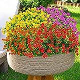 6 Bundles Artificial Flowers Outdoor Fake Flowers