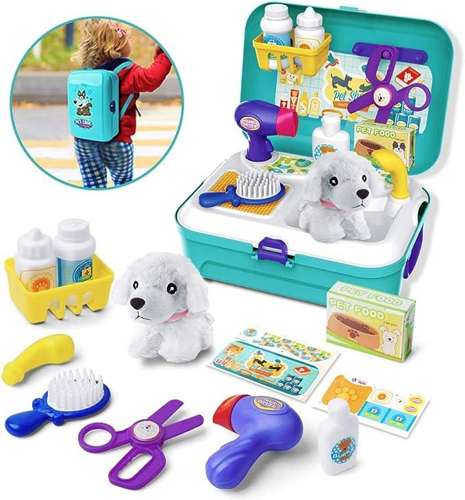 GizmoVine Juguetes Niños 2 años ,Juguetes para Perros Doctor Kit Toys,Maletín Veterinaria Perritos de Juguetes Mascotas Juego de rol para 2 3 4 5 años niños: Amazon.es: Juguetes y juegos