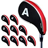 Andux New Design Golf Iron Head Covers with Zipper 10pcs/set