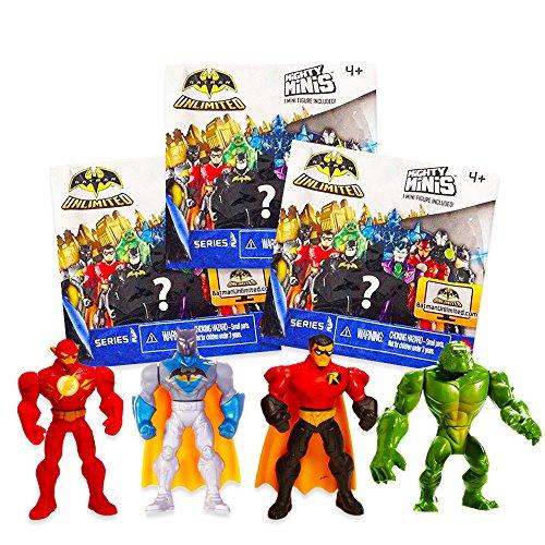 Toy Mini Batman (Batman Unlimited Series 2 Mighty Minis Action Figure Blind Packs (3))