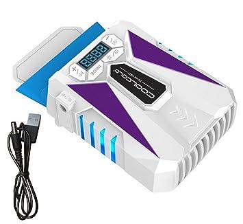 restbuy Laptop Enfriador portátil Cooler con ajustable velocidad del viento automática y control de temperatura blanco Weiß: Amazon.es: Informática