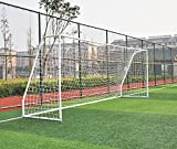 Pass Premier 12 X 6 Ft. Youth Size Steel Soccer Goal. 2″ Diameter Strongest Steel Frame w/Durable 4mm Net, Ground Stakes, Elastic Clasp & Re-Usable Ties. 12×6 Ft. Practice Aid.(1Net) Review