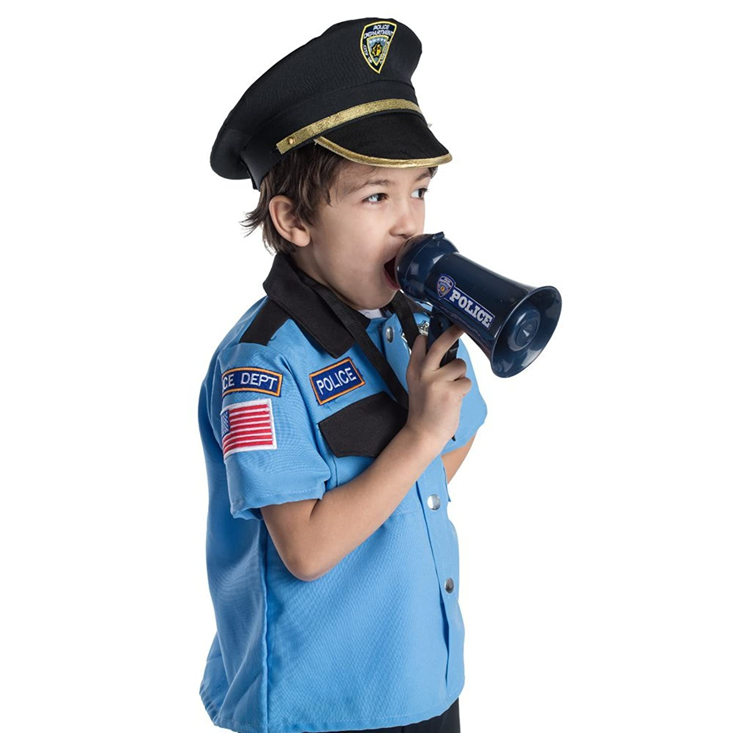 amazon com pretend play police officer u0027s megaphone with siren
