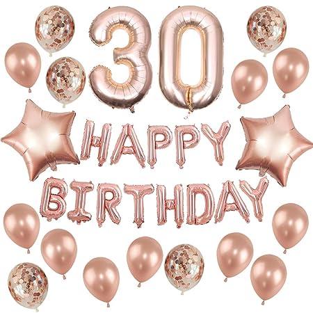 32 globos de colores surtidos de aluminio de 30 años para ...