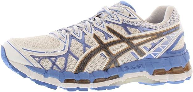 Asics Gel-Kayano 20 de la Mujer Running Shoe, (White/Titanium/Sky), 9.5 B(M) US: Amazon.es: Zapatos y complementos