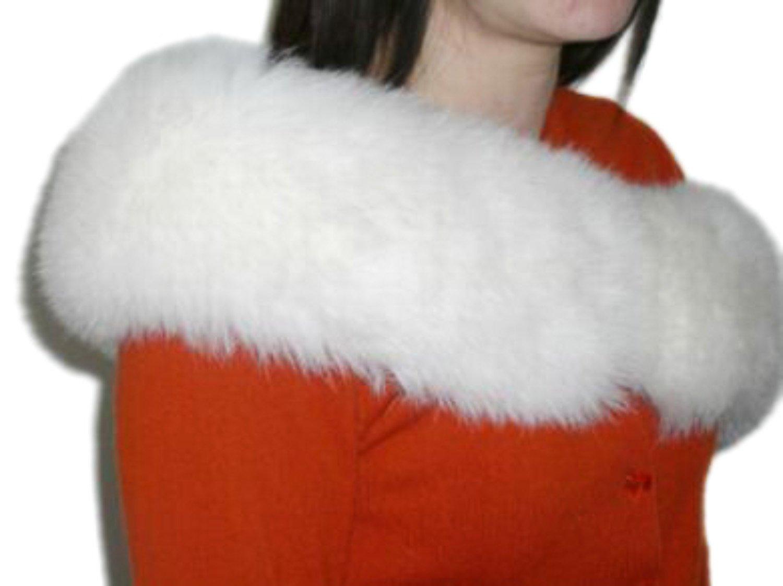 Ivory Fox Mini Shrug & Scarf/Multiple Wearing Styles