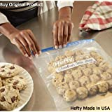 Hefty Polyethylene Freezer Bags, Pack of 7, 16 X 11 Inches, Transparent