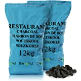 24KG of Premium Grade Large Lumpwood Restaurant Cooking Charcoal- Comes with THE LOG HUT® Woven Sack