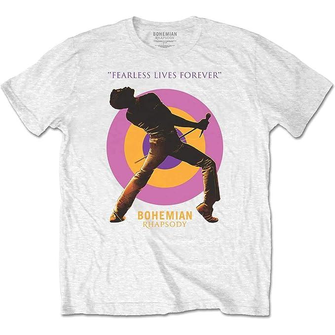 Tee Shack Queen Freddie Mercury Bohemian Rhapsody Mic Oficial Camiseta para Hombre (Small)