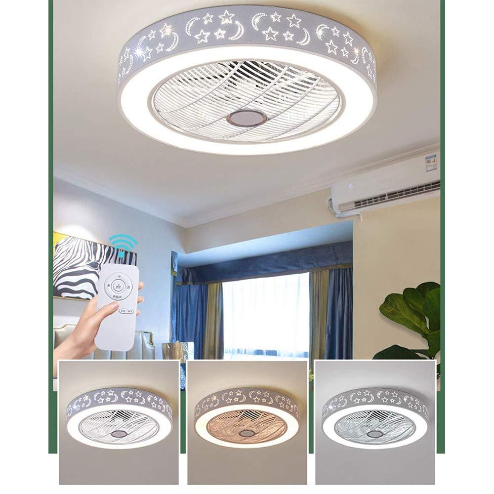Shfmx Schlafzimmer Moderne Deckenventilator mit Licht und Fernbedienung LED-Dimmer Deckenventilator Einstellbare Windgeschwindigkeit Negative Ionen Luftreinigung Fan Licht Wohnzimmer