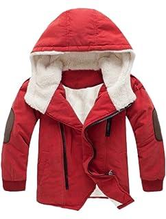 Vogstyle Ragazzi Inverno Cottone Cappotto con Cappuccio Pelliccia Spessi  Imbottito Parka Bambini Zip Giacca Warm Coat 9a2b3182457