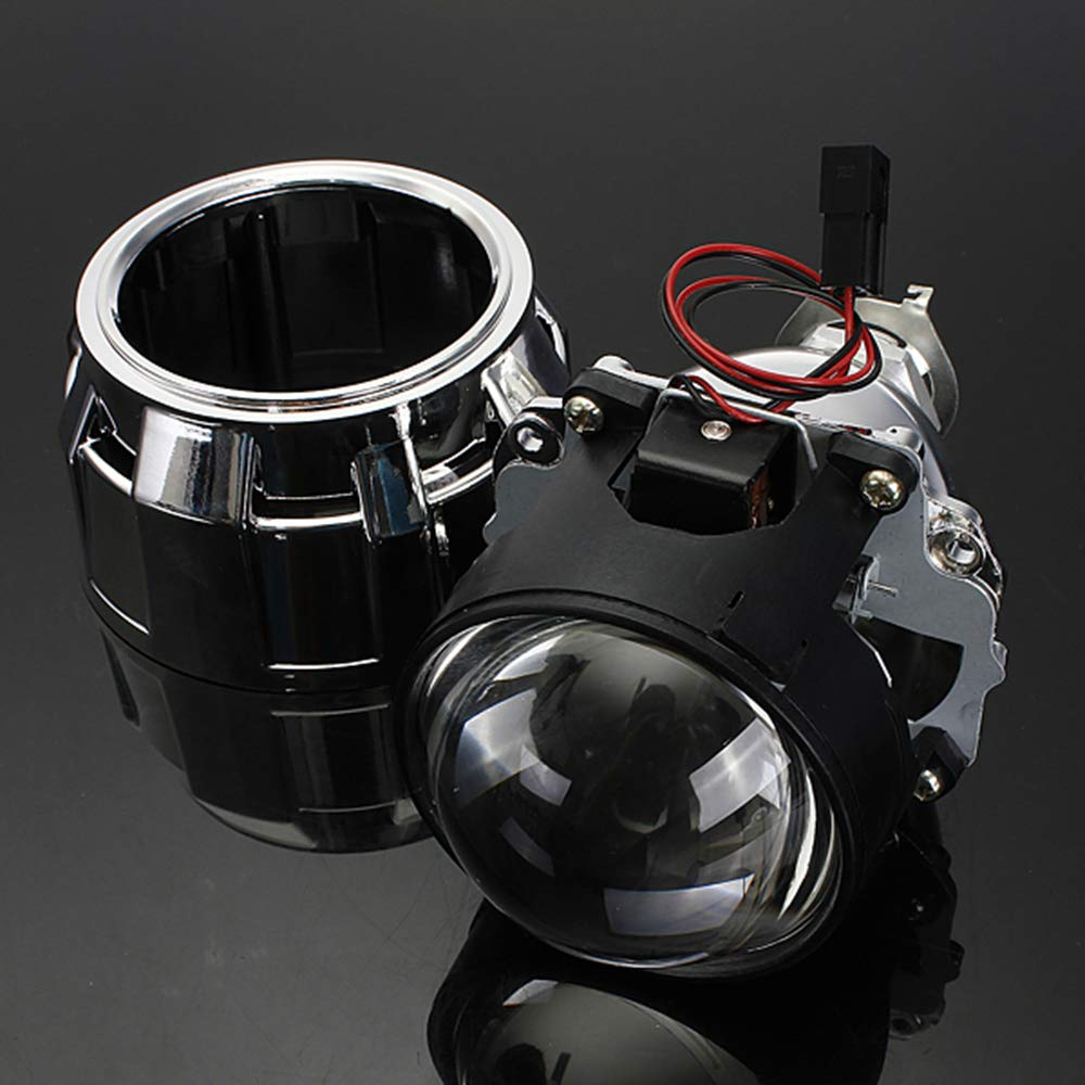 2.5 Bi-Xenon Projector Lens Shroud Frontlight H1 H4 H7 High//Low Beam RHD Right Hand Drive