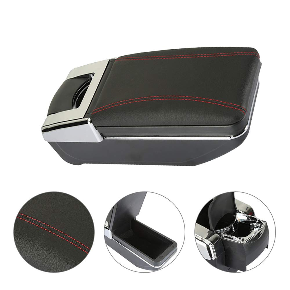 Coffre de rangement central pour mini casiers de rangement de voiture avec /étui de rangement