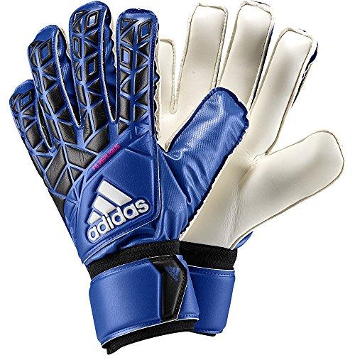 Athletic Adidas Gloves (adidas ACE Fingersave Replique Soccer Goalkeeper Gloves (Blue, Black) Sz. 9)