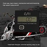 DGXIAKE Digital Tachometer Tach Meter Gauge for Gas Engine Chain Saw Cropper Generator Lawn Engine Mower, Gesture Induction Digital Display Pulse Speedometer