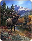 Bull Elk James Meger Design Medium Weight Faux Fur Blanket