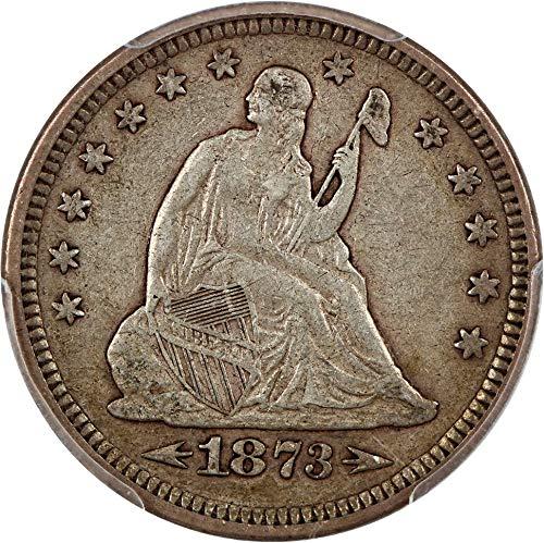 1873 P Liberty Seated Quarters Arrows Quarter 95 PCGS ()