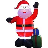 JF deco Decorazione Gonfiabile di Santa Claus di Natale di 2.4m, Decorazioni all'aperto dell'interno della casa