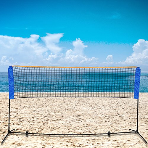 Smartxchoices 10ft Portable Badminton Net and Frame Set Professional Volleyball Training Practice Net with Poles Height Adjustable Net with Carrying Bag by Smartxchoices (Image #6)