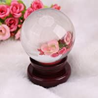 Clear Crystal Ball Spheres for Magic Photography Meditation Home Decor (100mm +Stand)