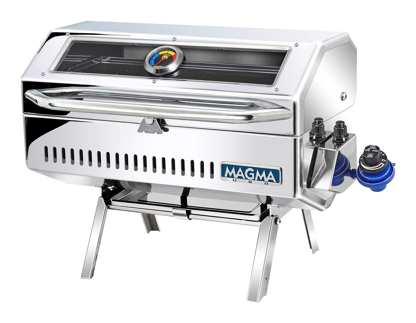 Magma Products, A10-918-2GS Newport 2 Infra Red Gourmet Series Gas Grill, Polished Stainless Steel by Magma