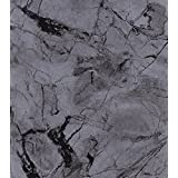 Magic Cover Self-Adhesive Vinyl Contact Paper, Shelf and Drawer Liner, 18-Inch by 20-Feet, Marble Charcoal