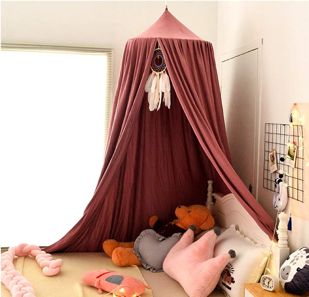 HggTjj Extra Large Kids Bed Canopy with Princess Cute Dome Nursery Canopy for Girls Bed Canopy for Girls Room Christmas Decor Kids Bed Tent Boys Reading Canopy Playing Hanging Canopy Crib Canopy