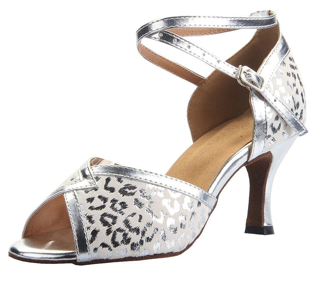 CFP pour Femme Latine Tango Piste de Danse Dance Party Mariage Argent Haut Talons Bas Dance-Shoes