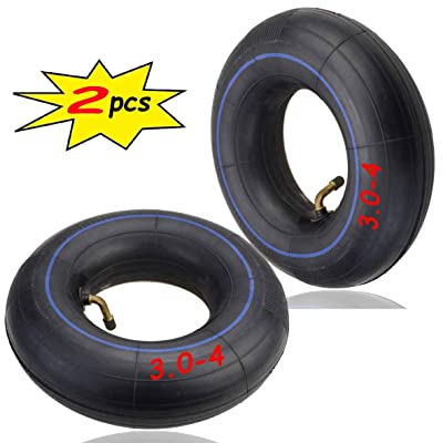 3.00-4 Inner Tube(2PCS) for Razor E300 Scooter, Pocket Rocket, Utility Dolly, Hand Truck 3.00 x 4 Angle Valve Tube, Razor E300 - PREMIUM Heavy Duty 260x85 Replacement Mobility Scooter Tire Tube: Automotive