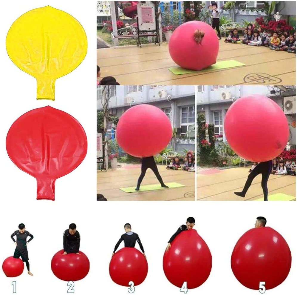 Yuanhonge Round Latex Giant 72 inch Large Birthday Party balloon Inflatable Air Decoration Red