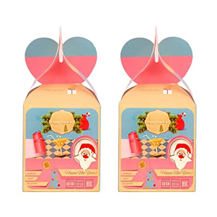 Wa 2X Cajas de Convites Decorativos para Navidad Cajas de Regalo Decorativa Cajas de