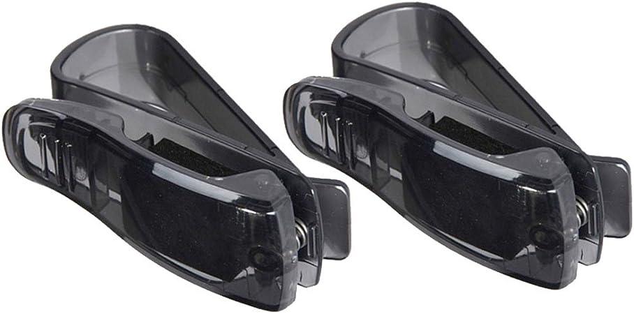 Mintice Trade 2 X Kfz Auto Brillenhalter Sonnenbrillenhalterung Lkw Sonnenblende Brillenablage Halter Clip Sonne Schwarz Pkw Auto