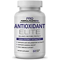 Antioxidant Elite – High Potency Antioxidant Extracts – 60 vcaps – Supports Anti–Inflammatory Activity & Immune System with Curcumin, Astaxanthin, Lutein, NAC & More