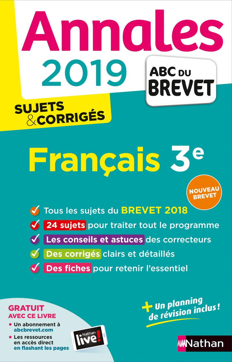 Amazon Fr Annales Abc Du Brevet 2019 Francais Thomas