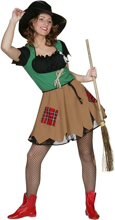 Disfraz de mujer espantapájaros, talla 36 - 46: Amazon.es ...