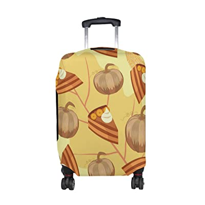 U LIFE Vintage Thanksgiving Day Pie Dessert Luggage Suitcase Cover Protector durable service
